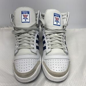 Adidas Top Ten 10 Hi US Size 10 White Blue Red Classic Sneakers D65161