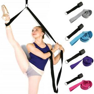 Leg Stretcher Belt Strap Yoga Dance Gym Flexibility Stretching Training Band