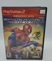 PS 2 Spiderman Friend Or Foe Complete Very Good Condition Playstation
