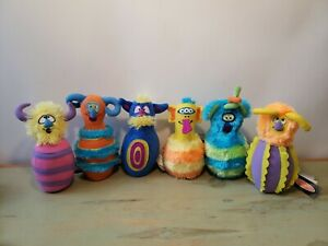 Melissa & Doug Plush Monster Bowling Replacement Pins Only - Set of 6 - 7""