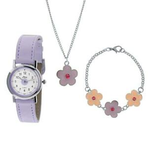 Girls Watch Set For Kids, Girls Gifts, Flower Watch, Necklace, Bracelet