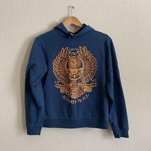 Shaun White Boys XL  Print Pullover Hoodie Cotton Blend Owl Graphic Long Sleeve