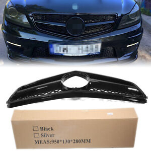 FIT Mercedes-Benz C204 W204 AMG Front Grill Gloss Black Radiator Grille Grills