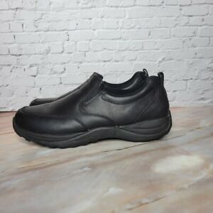 LL Bean Comfort Mocs Slip On Casual Shoe Full-Grain Leather Mens Size 10.5 Black