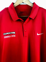 Nike Golf Dri Fit Athletic S/S Polo Golf Shirt XXL Youngstown State University