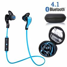 Bluetooth 4.1 Wireless Stereo Earphone Earbuds Sport Headset Headphone Blue