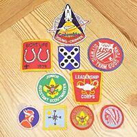Vintage Boy Scout Patch Lot Of 10 Badges BSA