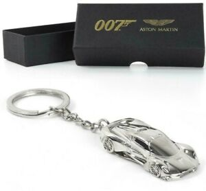 OFFICIAL NO TIME TO DIE ASTON MARTIN VALHALLA SILVER  KEYRING JAMES BOND 007 NEW