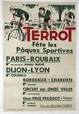 Paris-Roubaix - Terrot - Original Vintage Bicycle Poster - Cycling