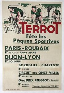 Paris-Roubaix - Terrot - Original Vintage Bicycle Poster - Cycling
