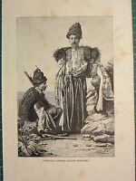 C1890 Antico Stampa ~ Curdo Gentlemen ~ Tipi & Costumi