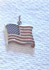 New listing Nos Estate 50s-70s Ster Enamel Charm: Red White Blue American Flag by Griffith