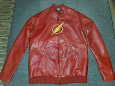 The Flash Costume Jacket Barry Allen Red cosplay NWOT DC Comics S Hot Topic