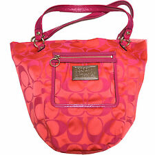 Coach Purse 14569 Poppy Bella Signature Magenta Tote Melon Handbag Pink New W044