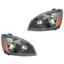 Fits 2005-2006 Nissan Altima Driver + Passenger Headlight Lamp Assembly 1 Pair