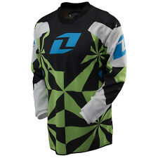 NEW ONE INDUSTRIES CARBON HYPNO GREEN  JERSEY MX ATV BMX YOUTH KIDS LARGE L