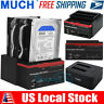 "2021 USB 3.0 SATA 2.5""/3.5"" HDD Dual Hard Drive Docking Station Card Reader"