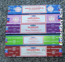 Satya Nag Champa Incense Stick Sampler Nirvana-Sunrise-Fortune-Celestial 75 Gram
