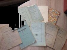 Lot 10 Livres MEDECINE ET THESES OU observations (1829 à 1893) Voir détails
