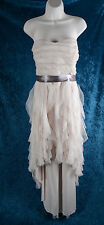 Deb High Low Taupe Dress Glitter Prom Homecoming Formal Strapless Plus Size 18