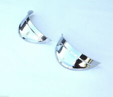 "7"" Headlight Headlamp Light Bulb Chrome Trim Cover Shield Visors Pair 6V"