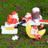 Santa Claus DIY Mini Miniature Figurine Christmas Garden Decor Micro Landscap_ti