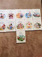 Walt Disney's Nursery Tales 11 Volume Library Set Retired Mickey Mouse