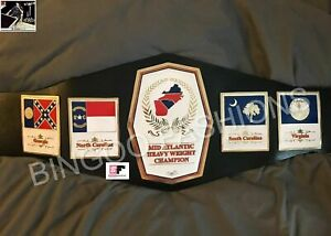 NWA Mid Atlantic Heavyweight Championship Title Leather Belt