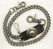"27"" Willie G Skull Medallion Harley Davidson Biker Wallet Chain Badge Key Chain"