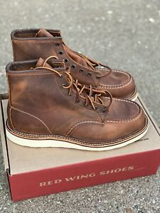 """Red Wing Heritage 6"""" Moc Toe 1907 Men's Boots 10.5 D Copper Rough Tough Leather"""