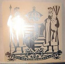 "6"" Hawaiian Kingdom of Hawaii Coat of Arms Vinyl Car Decal Sticker Chrome Foil"