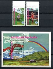 BARBUDA 1984 AUSIPEX Football Bumerang  766-67 + Block 89 **
