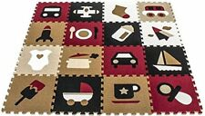Matney Puzzle Mat Interlocking Floor Kids Play Carpet Tiles (16 Tiles)