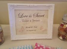 Personalised Sweet Table / Candy Cart Framed Sign Love Is Sweet Take A Sweet A4