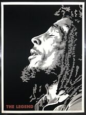 """Joshua Budich Poster """"The Legend"""" Bob Marley Print 2010 Mint Condition Sold Out"""