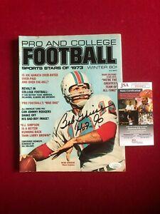 "1973, Bob Griese, ""Autographed"" (JSA) ""FOOTBALL"" Magazine (Scarce)"