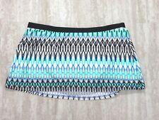NWT Kenneth Cole Linear Lines Skirt Bikini Bottoms PER KC6C292 LARGE L
