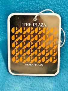 VINTAGE LUGGAGE TAG - THE PLAZA - OSAKA JAPAN - PRE-OWNED