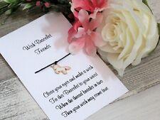 Pink Unicorn Wish Bracelet Friends Gift Enamel Charm Anklet Friendship Birthday