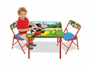 Mickey Mouse Erasable Activity Table and Chairs Playset Multicolor