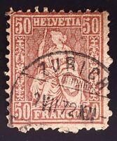 CatalinaStamps: Switzerland Stamp #59 Used, SCV=$55, #A145