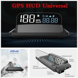 G3 Universal Car Dash HUD Head Up Display GPS Digital KMH MPH Speedometer Alarm