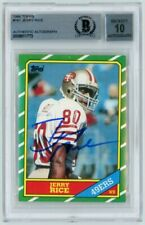 Jerry Rice 1986 Topps Football Autograph Auto Rookie Card #161 - BAS 10
