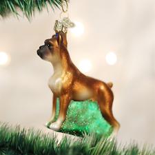OLD WORLD CHRISTMAS BOXER DOG GLASS CHRISTMAS ORNAMENT 12304