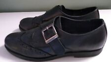 Clarks leather Loafer Brogue Flat Shoes Size 5 Black Ladies Womens