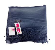Pashmina Silk Style Shawl Wrap Scarf Fashion Women's Solid Plain Many Colours