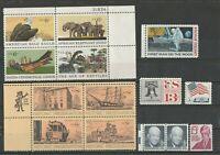 United States 14 postfrische Werte Moon, Eisenhower, Historic Reservation, Canoe