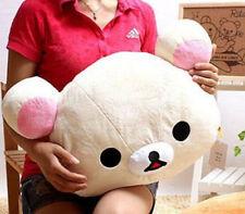 Rilakkuma San-X Relax Bear Head Plush 2in1 Cushion Pillow ~Beige~ 50cm gift