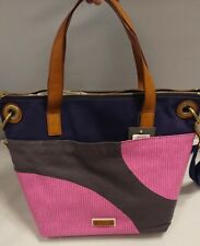 NEW NWT Fossil Keely Tote Pink Dots Handbag Crossbody Purse Bag Canvas ZB6932339