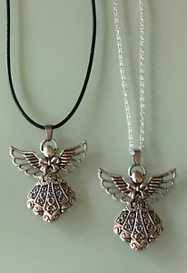 Protection Anxiety Relief Guardian Angel Pendant Cord/Silver Necklace Chain